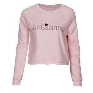 Wildfox Ambitchous Cropped Beach House Sweater